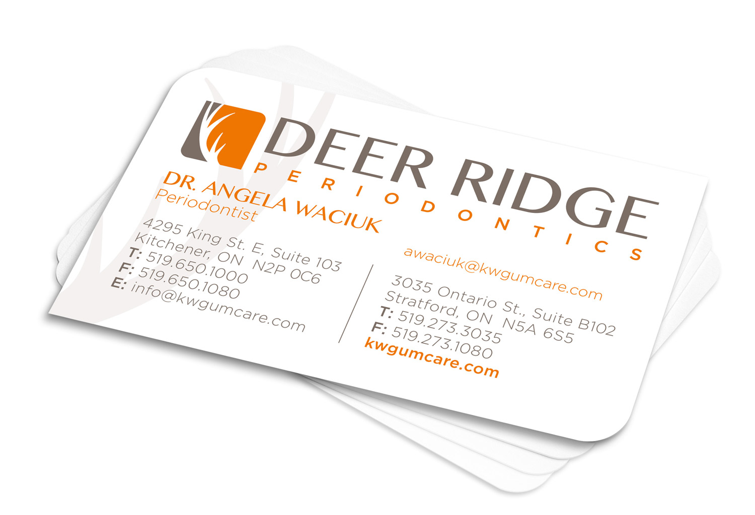 Deer Ridge Periodontics Business Cards
