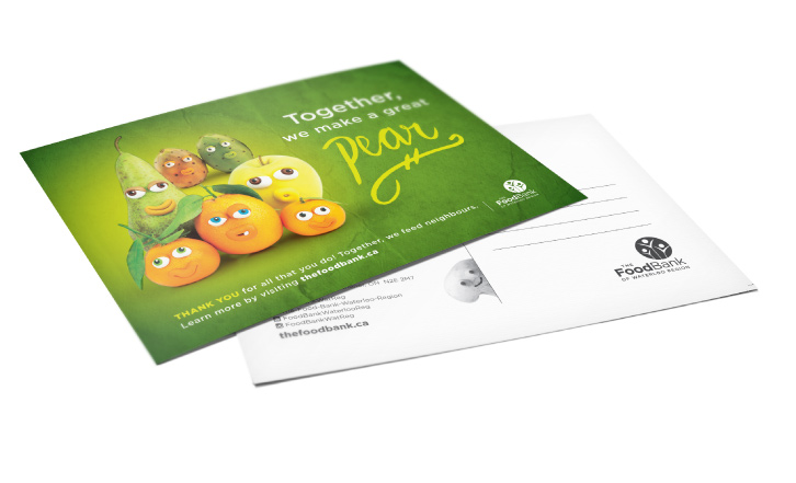 Foodbank Donor Postcards
