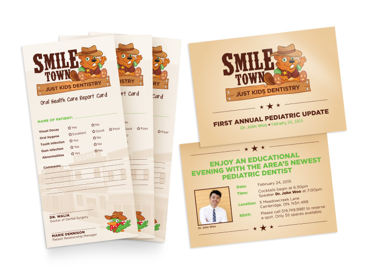 SmileTown Postcard and Report Card