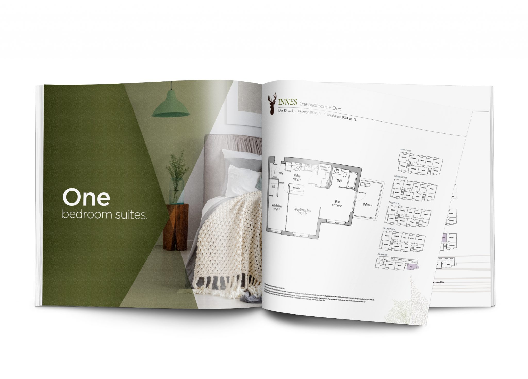 One bedroom brochure spread