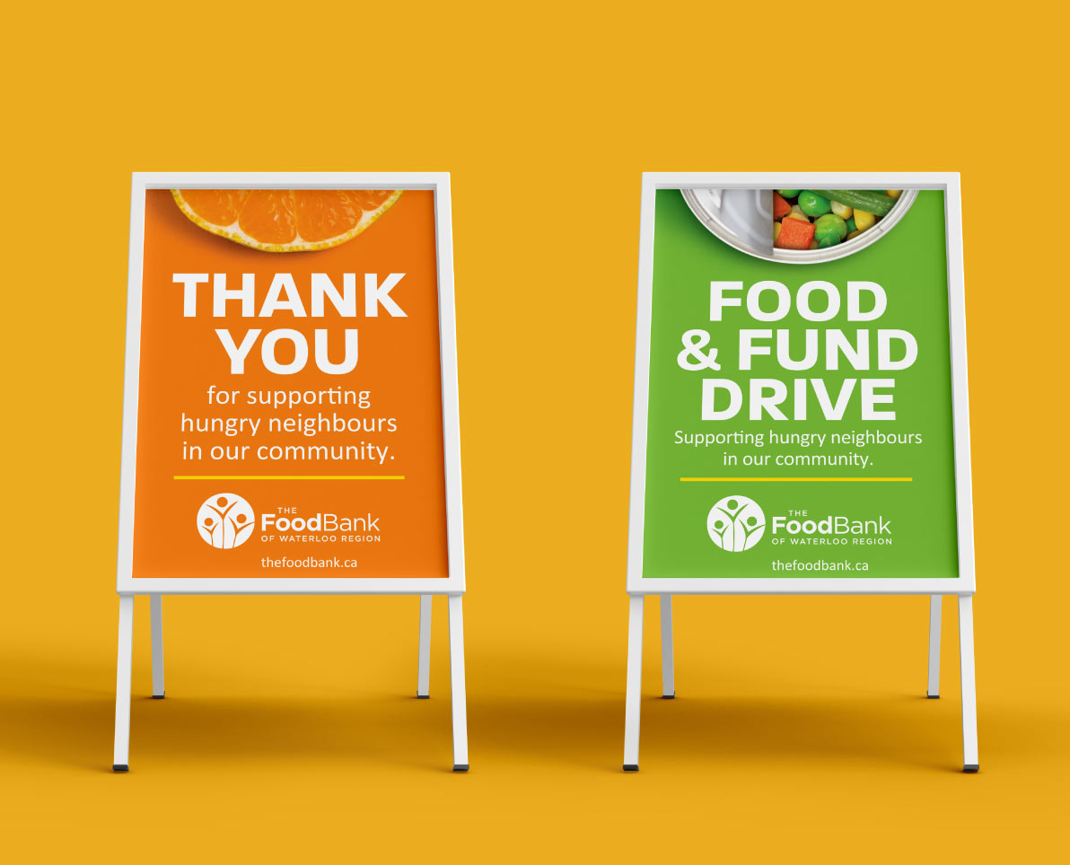 FoodBank of Waterloo Region A Stand Marketing Collateral