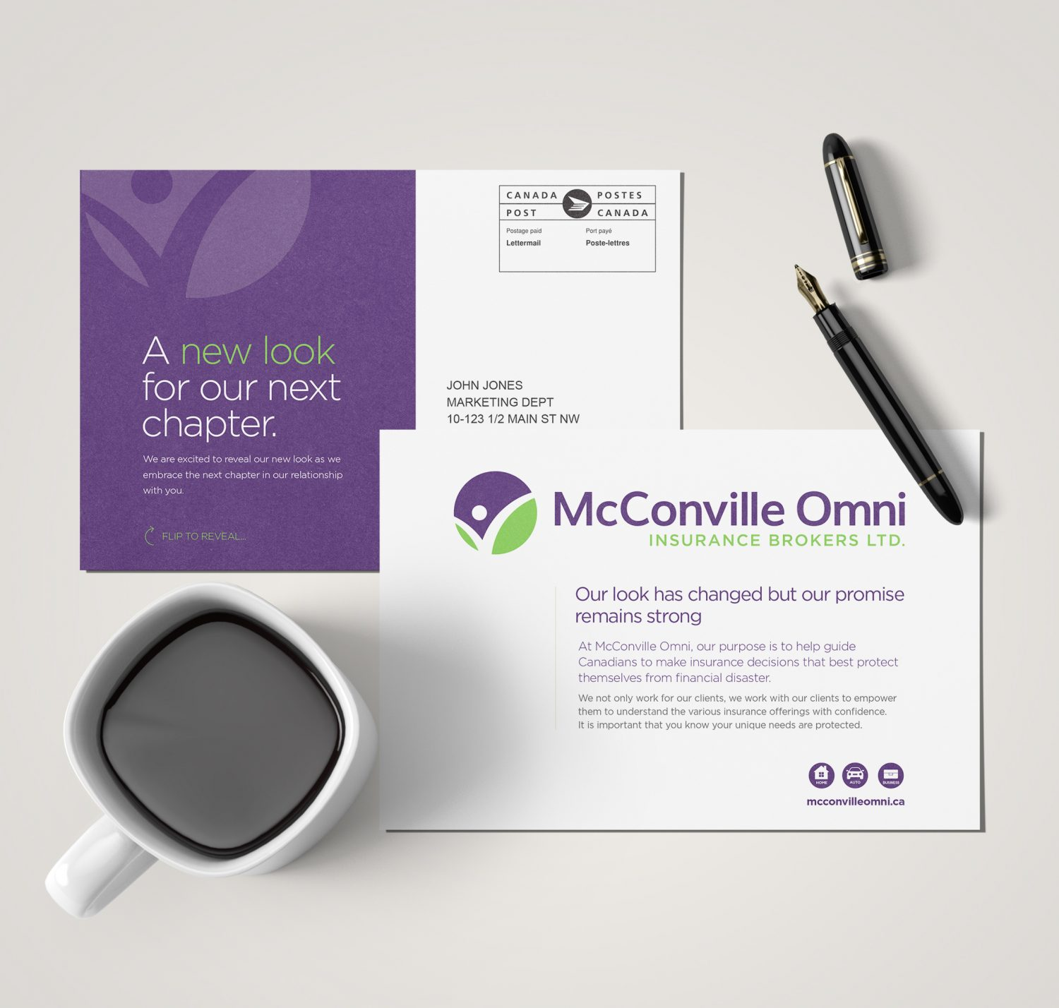 McConville Omni Postcard Marketing Materials