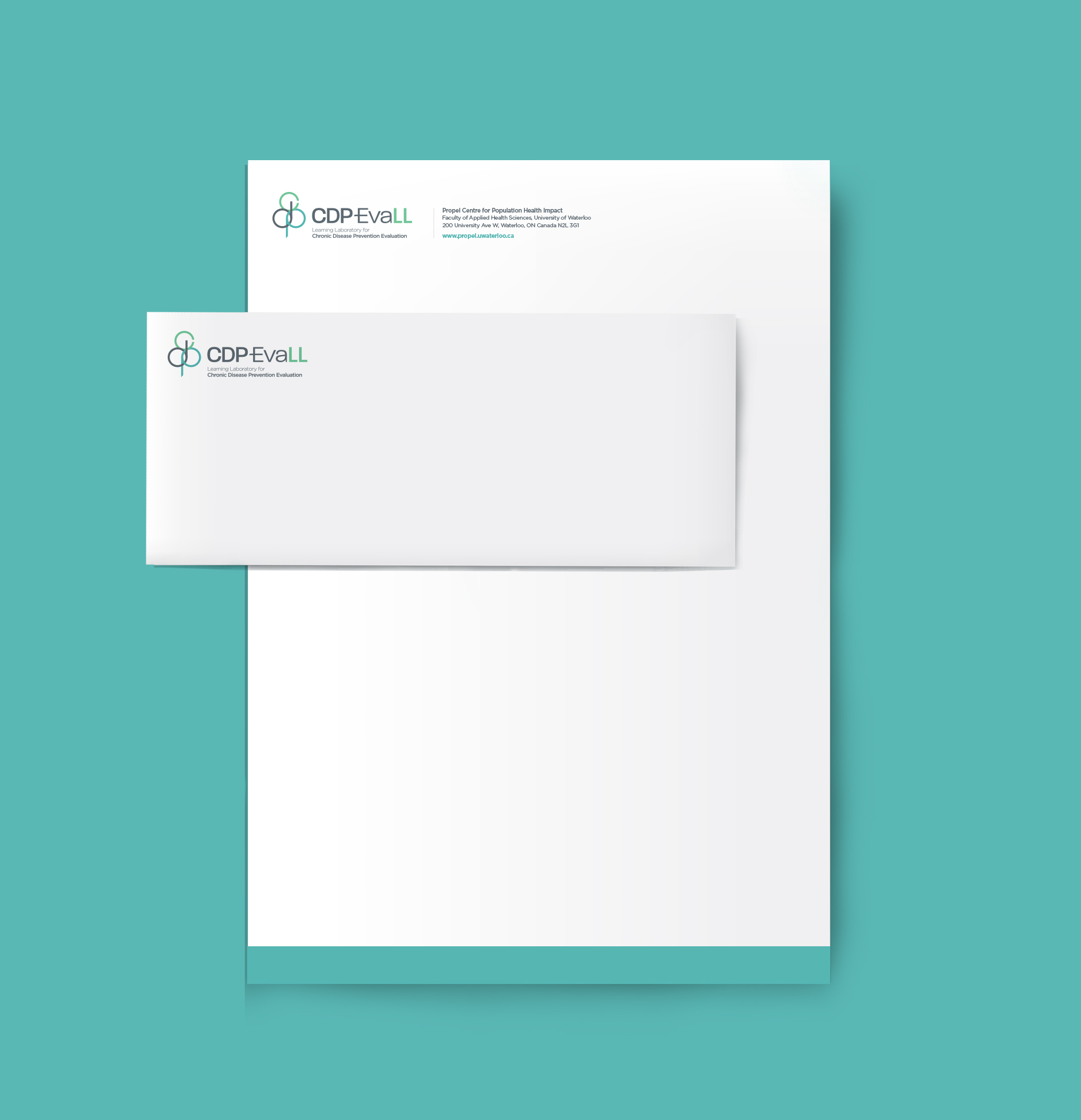 CDP Evall stationery design