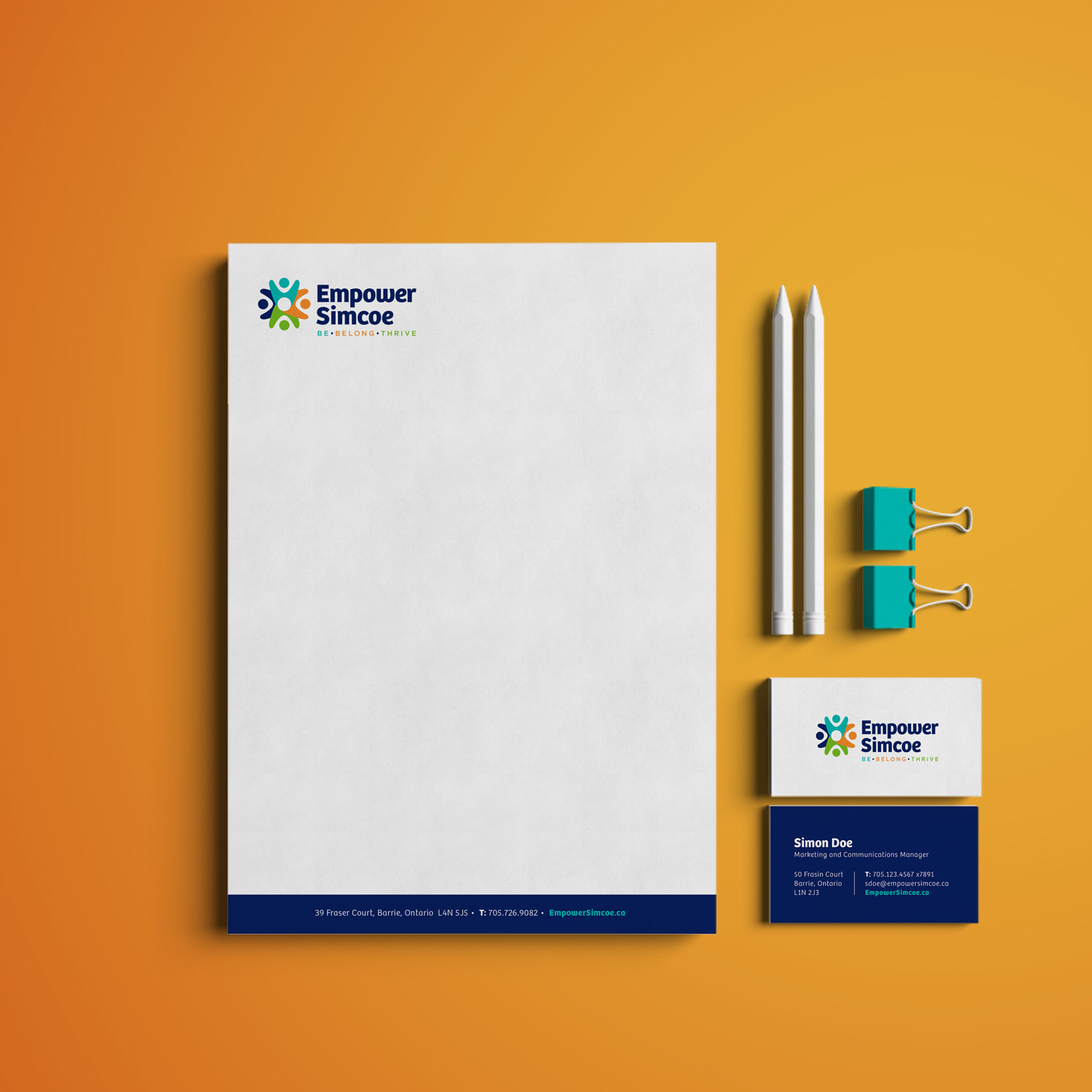 Empower Simcoe Stationery Design
